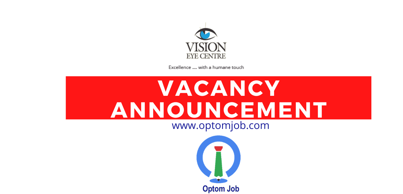 Vision Care Centre vacancy optometrist