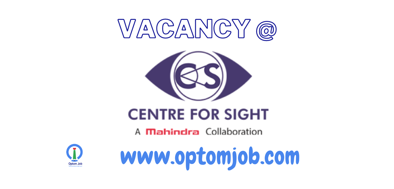 optometrist jobs at center for sight india